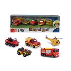 Dickie: Pompierul Sam - set de 5 mașinuțe