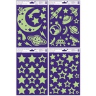 Világítós ablakmatrica - csillagok