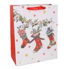 Karácsonyi zoknik ajándéktasak - 26 x 32 cm