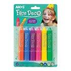 Amos: Pasztel arcfesték - 6 színű