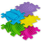 Muffik: Szenzoros ortopédiai szőnyeg szett - 5 db, színes