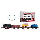 Piko: Set starter - Locomotivă cu aburi, vagoane de marfă și șine