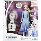 Prințesele Disney: Frozen 2 - Set Olaf și Elsa Talk and Glow