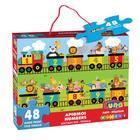 Luna: Vonat számokkal óriás padló puzzle - 48 darabos