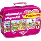 Schmidt: Playmobil - puzzle box cu 2 x 60 și 2 x 100 de piese