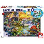 Schmidt: Dinoszauruszok 60 db-os puzzle ajándék dinókkal