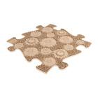 Muffik: Puha Mező kiegészítő darab szenzoros szőnyegekhez - lime, bézs