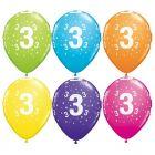 Számos lufi vegyes színekben 6 darabos csomag - 3