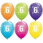 Számos lufi vegyes színekben 6 darabos csomag - 6