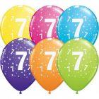 Számos lufi vegyes színekben 6 darabos csomag - 7
