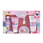 Kinsley: Unicorn Set de baie cu 5 piese pentru copii - Pink box