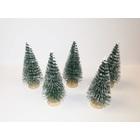 Zöld fenyőfa fa talppal - 4 cm, 5 db/cs