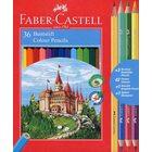 Faber-Castell: Set de 36 creioane colorate cu ascuțitoare și creion grafit