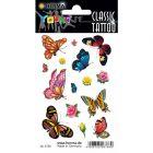 Herma: pillangók és virágok tetoválás