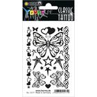 Herma: Tatuaj temporar alb-negru cu model fluturi