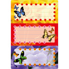 Herma: pillangós füzet címke
