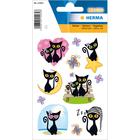 Herma: Stickere cu model pisică neagră