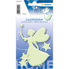 Herma: Stickere perete fosforescente - model zână