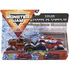 Monster Jam: El Toro Loco Negro și Cyclops - set cu 2 mașinuțe culori schimbătoare