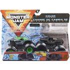 Monster Jam: Alien Invasion și Soldier Fortune - set cu 2 mașinuțe culori schimbătoare