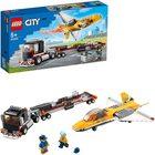LEGO City Great Vehicles Transportor de avion cu reacție pentru spectacol aviatic 60289