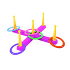 Műanyag ügyességi karikadobáló játék - rózsaszín