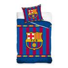 FC Barcelona: lenjerie de pat cu 2 piese - roșu-albastru
