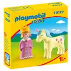 Playmobil 1.2.3: Prințesă cu unicorn 70127