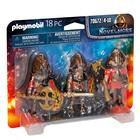 Playmobil: Set de figurine Knights Burnham Raiders - 70672