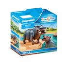 Playmobil: Hipopotam cu pui 70354