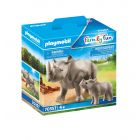 Playmobil: Rinocer cu pui 70357