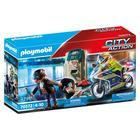 Playmobil City Action: Cu motocicletă pe urmele unui hoț de bani 70572