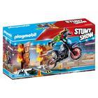 Playmobil: Stunt Show Motocicletă cu perete în flăcări 70553