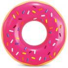 Intex: colac gonflabil cu model gogoașă cu glazură roz - 91 cm