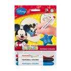 Mickey Mouse: Set de 5 baloane care pot fi colorate