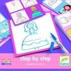 Djeco: Rajzolj lépésről lépésre - Hercegnő - Step by step Joséphine and Co
