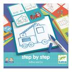 Djeco: Rajzolj lépésről lépésre - Járművek - Step by step Arthur and Co