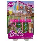 Barbie: Kerti játékszett - csocsóasztal kiskutyával