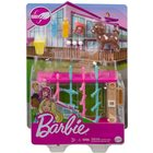 Barbie: Mini-set de joacă cu animăluțe - Masă de fotbal cu cățelușă