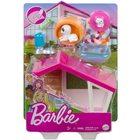 Barbie: Mini-set de joacă cu animăluțe - Căsuță pentru câini cu cățeluși