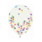 Léggömb csomag színes konfettivel, 30 cm - 4 db-os