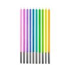 Vegyes pasztell színű születésnapi gyertya csomag - 10 db-os