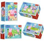 Trefl: Peppa malac boldog napja - 54 darabos mini puzzle, többféle