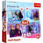 Frozen 2: Călătorie în necunoscut - puzzle 4-în-1
