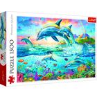 Trefl: Familie de delfini - puzzle cu 1500 piese