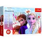 Trefl: Jégvarázs 2, Anna és Elsa elvarázsolt világa - 60 darabos puzzle
