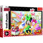 Trefl: Minnie egér, Minnie a szépségszalonban - 100 darabos puzzle