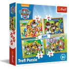 Trefl: Mancs őrjárat, 4 az 1-ben puzzle