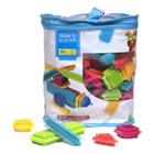 Seeko Blocks: Set de construcție colorată cu pini - 90 de piese