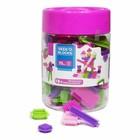 Seeko Blocks: rózsaszín tüske építő játék, 75 db-os